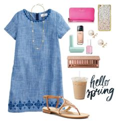 """""""hєllσ ѕpríng """" by morganmestan ❤ liked on Polyvore featuring Jack Rogers, Eos, Maybelline, Urban Decay, Kate Spade, Essie, Skinnydip, Coach and Kendra Scott"""
