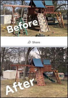 Playset Refurbish (inspection, tune-up, sand, stain/seal) Wood Playground, Backyard Playset, Relocation Services, Diy Shed, Do It Yourself Projects, Diy Patio, Fixer Upper, Home Projects, Seal