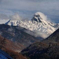 Mt. Ushba #Svaneti #Georgia. #GreaterCaucasus #Caucasus #mountains #landscape by bardzima