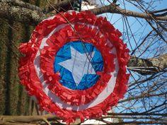 DIY Tutorial Captain America Shield #Pinata Moms Saving Money, LLC #Avengers