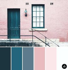 a color palette inspired by indigo doors (Akula Kreative), . - a color palette inspired by indigo doors (Akula Kreative), - Kitchen Colour Schemes, Kitchen Wall Colors, Pink Color Schemes, Rose Gold Color Palette, Pink Palette, Interior Design Color Schemes, Bedroom Colour Palette, Color Interior, Design Palette
