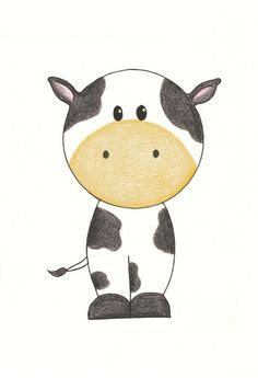 Wall Art  - Country Cow, 5x7 Matted. $9.00, via Etsy.  LOVE these prints!