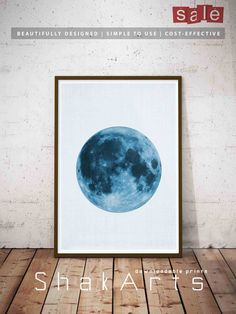 Full Moon Poster, Lunar Phases, Large Modern Prints, Woodlands Nursery, Moon Phases Poster, Large Poster Set, Space Theme Decal, Kids Room