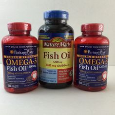 Omega-3 Fish Oil 380 Softgels 3 Bottles 6 Months Worth Exp Oct 2014 & May 2015 #PuritansPride