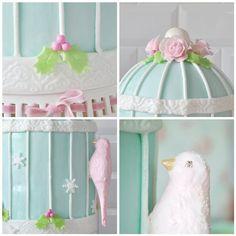 Birdcage Christmas cake