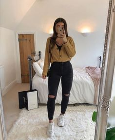 Trendy Fall Outfits, Cute Comfy Outfits, Winter Fashion Outfits, Retro Outfits, Simple Outfits, Stylish Outfits, Cool Outfits, Teenager Outfits, College Outfits
