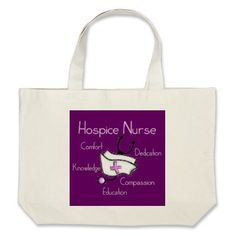 Sweet hospice nurse tote bag from Zazzle.com