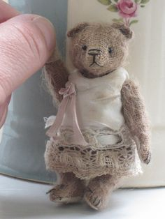 "Miniature Artist Bear OOAK One of a Kind ' Fayana' 2.75""  Old Post Office Bears"