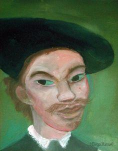 """""""Rembrandt Stones fan """", acrylic on canvas, 45 x 55 cm. 2006, pinturas de Diego Manuel"""