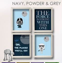 Baby Boy Star Wars Nursery Art Oh The Places by StarWarsPrintShop, $34.00