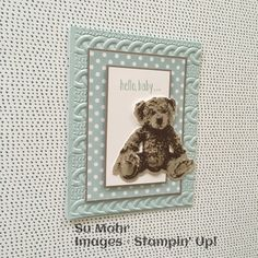 Stampin' Up! demonstrator site and online store - SU - Baby Bear - Cable knit EF