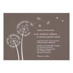 Dandelion Spring Wedding Invitation from Zazzle.com