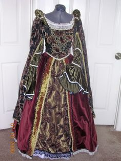 copper velvet burn out Renaissance gown by customecostumer on Etsy, $400.00