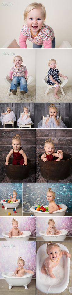 One year old Wyntr and her super cute smiley baby stage studio session.