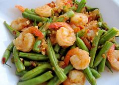 Cooking Gallery: Spicy Green Beans with Shrimps Rilakkuma, Bento, Java, Spicy Green Beans, Appetizer Recipes, Dinner Recipes, Healthy Drinks, Healthy Recipes, Crock Pot Food