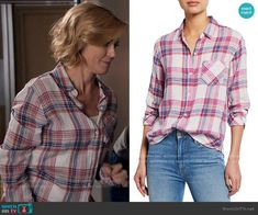 Claire Dunphy Fashion on Modern Family Other Outfits, Family Outfits, Modern Family Episodes, Pink Plaid Shirt, Julie Bowen, Claire, Fashion Outfits, Classic, Clothing