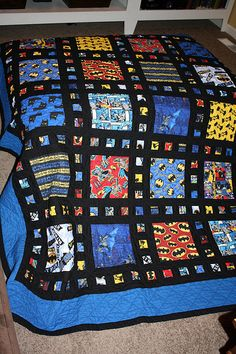 Front of my first Batman quilt