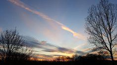 Beautiful sky above Simpelveld, the Netherlands. February 2016. Photo taken by Anka Toma