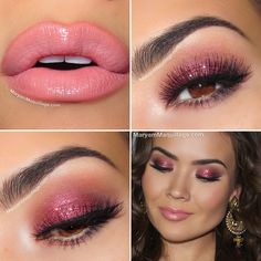 "Maryam Maquillage: ""Wine Down"" Holiday Makeup perfect pink sparkle Gorgeous Makeup, Pretty Makeup, Love Makeup, Makeup Tips, Perfect Makeup, Makeup Case, Makeup Trends, Makeup Ideas, All Things Beauty"