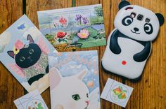Postcrossing SnailMail envelope & postcard
