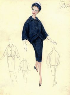 Dior Suit by FIT Library Department of Special Collections, via Flickr  #fashion #Dior