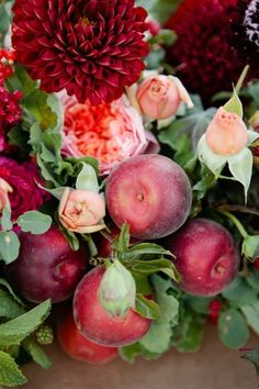 harvest flowers and fruit