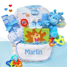 Baby gift baskets at simply unique baby gifts a special cashmere bunny personalized little safari boy baby gift basket 7995 negle