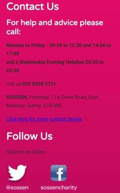 How to contact SOS!SEN