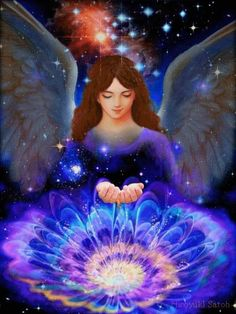 """The first step in recognizing angels is to slow down. Seek the quietness inside through meditation or relaxation. - Lynn Fischer, ✨ """"Angels of Love and Light"""" ✨ Angel Protector, Angel Artwork, Archangel Gabriel, Fable, Beautiful Fantasy Art, Angel Pictures, Angels Among Us, Guardian Angels, Renaissance Art"""