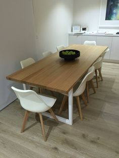 Lumber Furniture dining table custom made #timberdiningtable #diningtable #diningroom #diningroomdecor #diningchair Timber Dining Table, Furniture Dining Table, Dining Tables, Dining Room, Interior Ideas, Bench, Rooms, Design, Home Decor