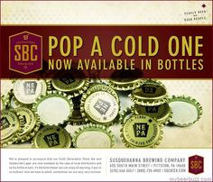 Susquehanna Brewing Co– Goldencold Lager & 6th Generation Stock Ale Now In Bottles