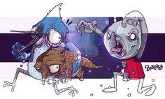 The Regular Show by GUACALA /// Digital Illustration in PSD // Fanart