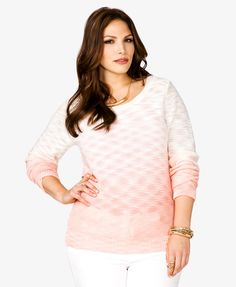 Open-Knit Ombré Sweater | FOREVER21 PLUS - 2030186076