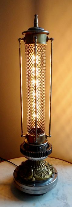 Lampe steampunk vintage