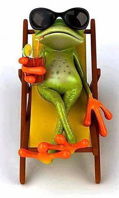 Funny Wallpaper - World of Animals Funny Frogs, Cute Frogs, Animals And Pets, Funny Animals, Cute Animals, Wild Animals, Tierischer Humor, Stickers Design, Frog Art