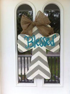 Chevron Cross Door Hanger I would put it on the wall instead