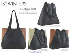347cbac60d63 JJ Winters Harlow Tote Style   409. The latest tote from celebrity favorite JJ  Winters. ZippersItalian LeatherLos AngelesLightning
