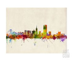 San Francisco City Skyline Photographic Print by Michael Tompsett at Art.com