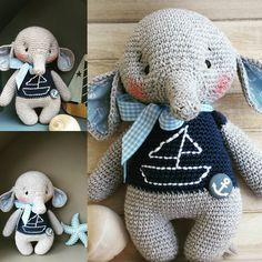 For my best friend.... Pattern @amalou.designs #knittinglove #knittersoninsta #lovecrochet #elephant #yarnlover #lennardsglauchau #onthebeach #pirats #crochetlove #crochetwithlove #marleensmadeforyou