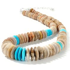 Jay King Petrified Wood and Turquoise Necklace.  Ah, in love!