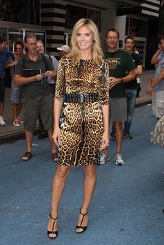 Leopard Print Animal Print Dress