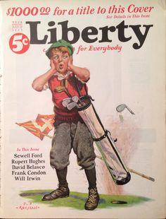 Liberty Magazine July 1925 Golf Cover