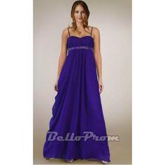 Spaghetti Sweetheart Plus Size Chiffon Long Dress A2374 at belloprom.com