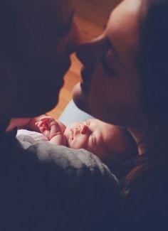 Newborn in the middl
