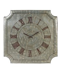 Another great find on #zulily! 39'' Rustico Clock by Established 98 #zulilyfinds