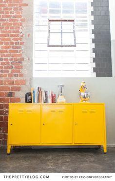 Modern yellow cabinet   Suprette   Photo: @Amanda Snelson Drost