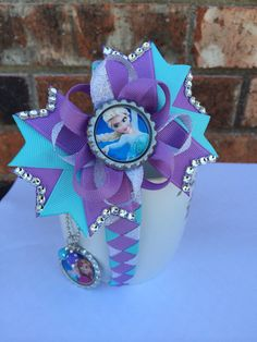 Frozen hair bow. Frozen headband. Frozen by TheJMarieBoutique, $15.99