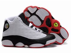 Chaussures Air Jordan 13 Blanc/ Noir/ Rouge [nike_10050] - €55.85 : Nike Chaussure Pas Cher,Nike Blazer and Timerland https://www.facebook.com/pages/Chaussures-nike-originaux/376807589058057