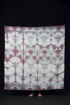 hand dyed shibori silk wrap