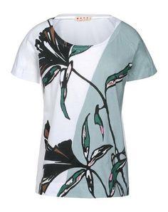 MarniT-shirt manches courtes  - Blanc